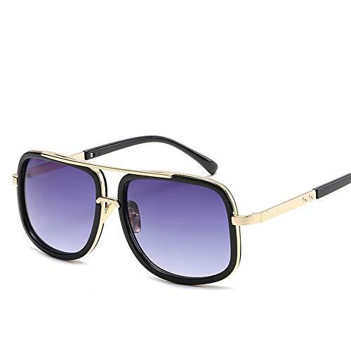 JIGAN Retro Sonnenbrille Brille Square Eyewear Metallrahmen für Männer Frauen Iron Man Sonnenbrille,4