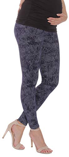 BeLady Damen Leggins Umstandsleggins für Schwanger Knöchellang Abnehmen Hose mit Hoher Bund aus Baumwolle Viele Muster 36,38,40,42,44,46,48,50,52 (Lais, S - 36)