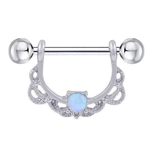 Lecimo gioielli zircon nasale chiodo dell'orecchio nasale dell'orecchio per unghie 04#
