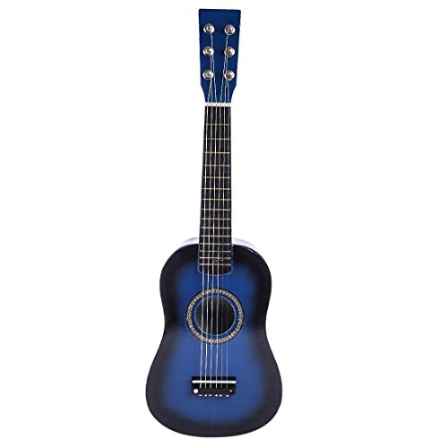 Rolanli Guitarra para Niños, 58,7cm 6 Cuerdas Guitarra de Madera Juguete de...