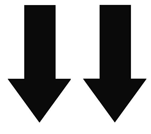 2x Abschlepphaken Pfeil Hochglanz schwarz passend für Rally, Viper 4 cm x 8 cm