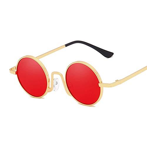 Kjwsbb Metall Runde Steampunk Sonnenbrille Frauen Brille SonnenbrilleWeiblicheBrillen Shades