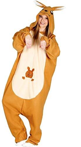 Kostüm Tier Australische - Fancy Me Känguru-Kostüm für Damen und Herren, australisches Tier, für Junggesellinnenabschiede