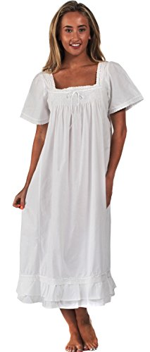 The 1 for U 100% Cotton Nightdress Short Sleeves - Evelyn