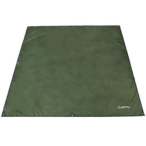 lanen Markise Hängematte Baldachin Footprint Boden Blatt Regen Fly Shelter Schatten Decke Matte Sonnenschirm Wasserdicht Heavy Duty (Grün, M - 71 x 86,6 Zoll) ()