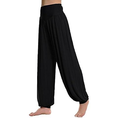 DJT - Morbido Cinturino Elastico Fitness Yoga Herem Pants - Donna