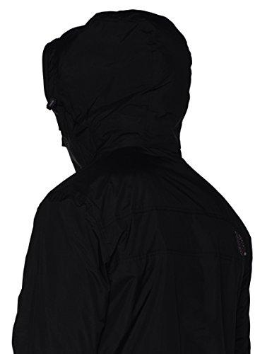 Superdry Herren Sportjacke Pop Zip Hood Arctic Wndcheater Nero (Black/Dark Grey Marl)