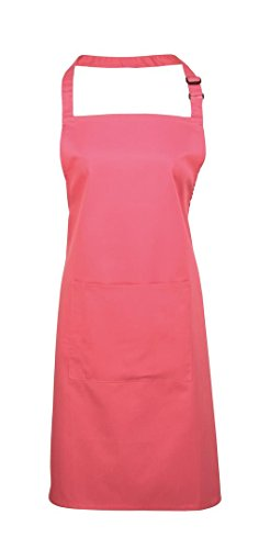 Premier Workwear Colours Bib Apron with Pocket, Top Donna rosa fucsia