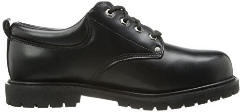 Skechers Work Mens Cottonwood-Cropper Steel Toe Work Boot Black Leather