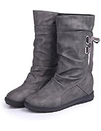 XZ Europa y los Estados Unidos de gran tamaño borla de hebilla de cinturón de zapatos de mujer en las botas de...