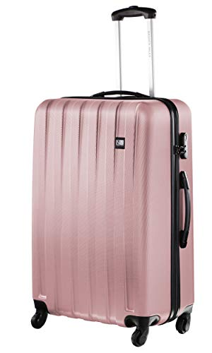 Nasher Miles Zurich 75cm ABS Hard Sided Checkin Luggage - Trolley/Travel/Tourist Bags (Old Rose)