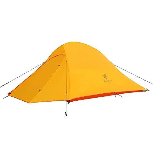 GEERTOP Campingzelt Ultraleichte 2 Personen Doppelten Zelt 3-4 Saison Camping Zelt für Trekking, Outdoor, Festival mit kleinem Packmaß