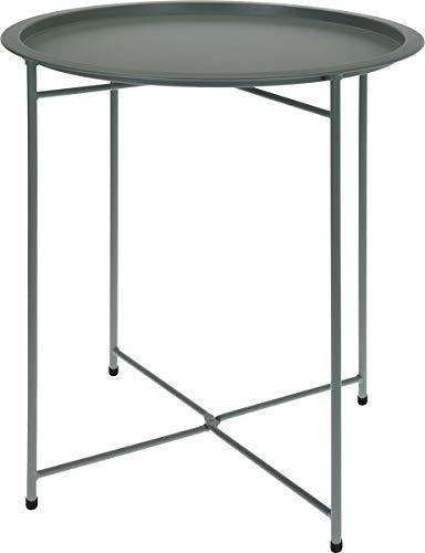 made2trade Beistelltisch, Nachttisch, Kaffetisch fürs Wohn- und Schlafzimmer aus Metall in Grün - 52cm -