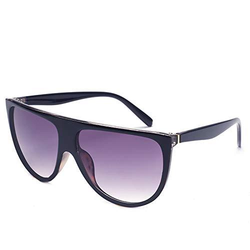 Yangjing-hl Sonnenbrille Europa und die USA Trend Big Box Retro Sonnenbrille Damen Herren Sonnenbrille, Siehe Abbildung, Leopard-Printed Blue Double Tea Slice