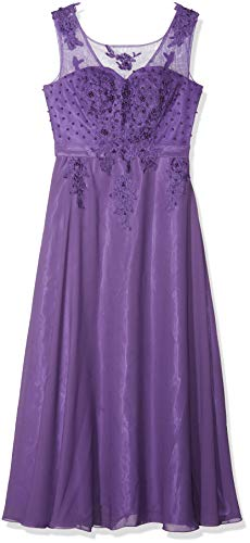 Robe du Soir et Mariage Rétro Vintage à Taille Haute YF07555-2 - Violet -42