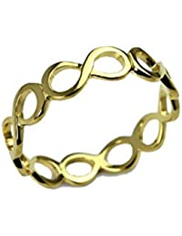 TRINETRA JEWELS- 18k Gold Plated Infinity Wrap 925 Sterling Silver Ring
