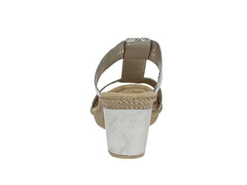 Rieker 66564-40 40, Mules pour Femme Gris