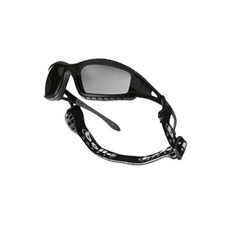 Bollé tracpsf Tracker Brille Gestell Nylon schwarz, rauch Anti-Scratch und Anti-Fog Objektiv
