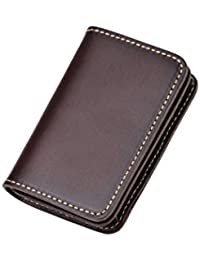 Tarhoo Vegetable Tanned Leather Business Card Wallet & Credit Card Holder For Holiday Gifts -[ Hold Up To 40 Cards...