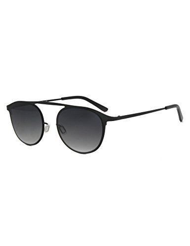 Carmim Men women retro metal ultra light sunglasses (Schwarz) -