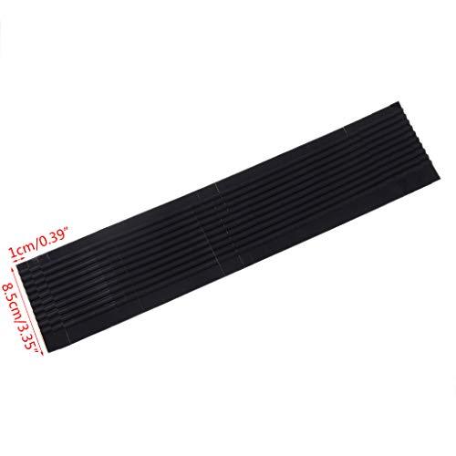 YoungerY 40Pcs Silikon Kleiderbügel Non Slip Schultergurt Grip Streifen Pad mit 10Fins Schwarz - Non-slip Schultergurt
