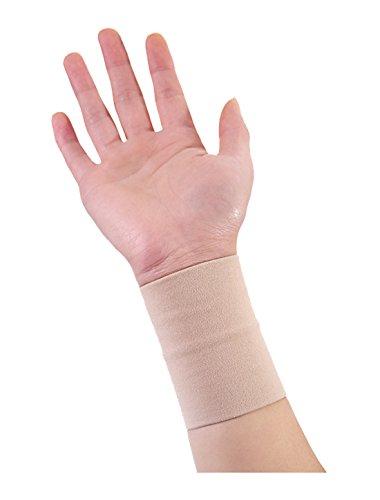 sourcingmap® 1 Pack Unisex Reversibel elastich Sportlich Kompression Handgelenk Band (Black Bandage Cotton)