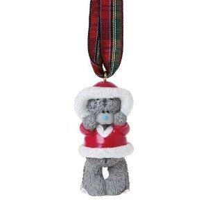 Tatty Teddy C78B Weihnachtsdeko Teddybär im Weihnachtsmann-Mantel