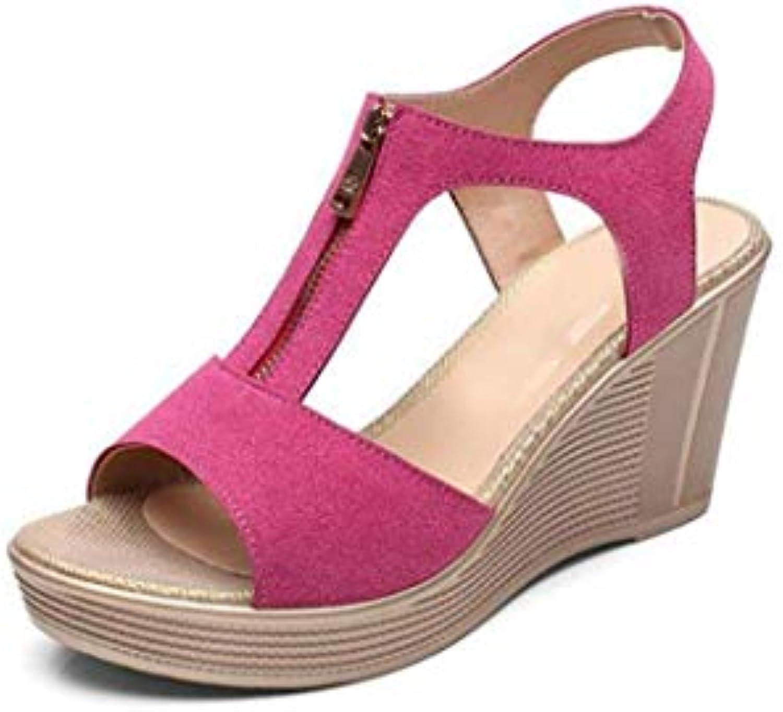 Sandali da Donna con la Suola Spessa Velcro Velcro Velcro Summer New Wild Shake scarpe di Taglia Piccola 33 Scarpe col Tacco... | Produzione qualificata  e67493