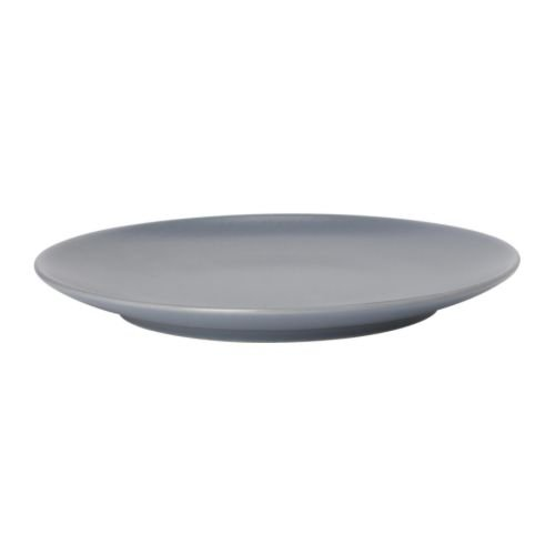 IKEA DINERA - Side plate, grey-blue - 20 cm Blue Plate