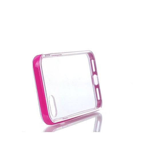 BONROY® TPU Schutzhülle für iPhone 7 (4,7 Zoll) Silikon Handyhülle Case,TPU transparent ultra-slim Weiche Zurück Tasche Etui Bumper Kratzfeste Telefon-Kasten Schutz Etui Bumper für iPhone 7 (4,7 Zoll) heiß Rosa