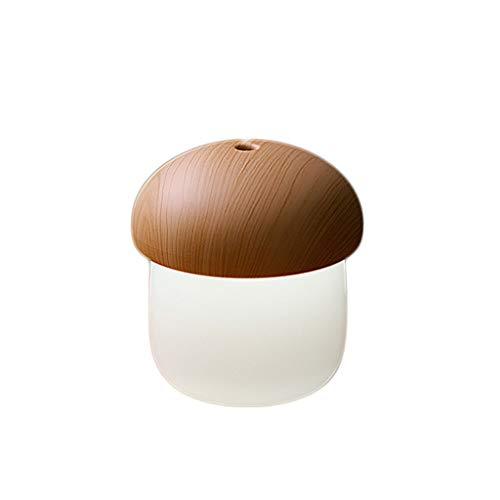 Famiglia Umidificatore portatile Mini USB umidificatore a forma di fungo Camera da letto Mute Aria piccolo viso femminile Aromaterapia Spray auto umidificatore Umidificatore (Color : Wood color)