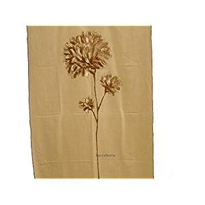 Handbemalter Stoff, japanisches Design, Kunstwerke, Leinen, Tischläufer, Vorhang, BeccaTextile Dekorationsideen.