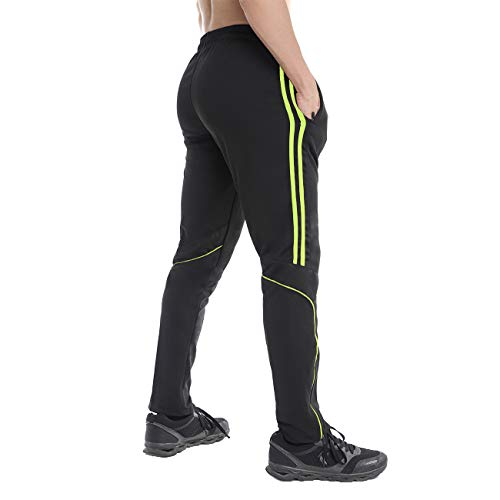 FITTOO-Mens-Athletic-Sweat-Pants-Stripe-Slim-Workout-Trousers-Zipper-Pocket-Jogger-Bottom-with-Side-Taping