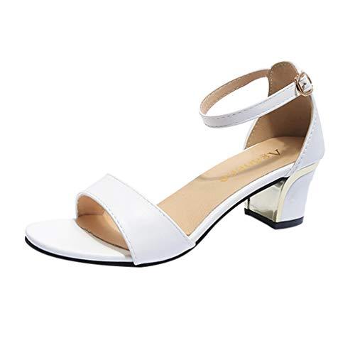 Qmber Spitze Damen Pumps Bequeme Lack Stilettos Plateau Wedge Peep Toe Offen Vintage Schuhe Sommerschuhe Offene Zehe Dicke Ferse Runder Open Toe/White,36 Stretch-peep-toe