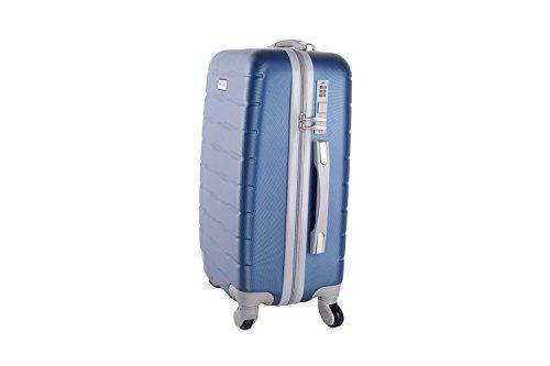 31E9c7z1ZXL - 3 Maletas rígidas PIERRE CARDIN azul 4 ruedas cabina para viajes VS21