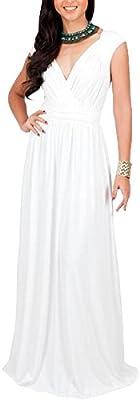 Vestido De Mujer Maxi Talla Grande Manga Corta V-Cuello Elegantes Vestidos De Noche Largos