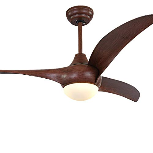LIGHTCeiling Ventilador Ventilador Comedor simple con calefactor invertido Lámpara de 52 pulgadas, Luz cálida, 12W Xuan - Digno de tener (Color: Blanco, Tamaño: Control remoto)