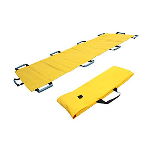 Emergency EMS Patient Mover Transport Unit, Roll Stretcher-Yellow 10 Handles-350 lbs