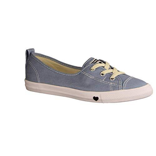 Lace Slip Sneaker (Converse Chucks CT AS Ballet LACE Slip 563492C Hellblau, Schuhgröße:38.5)