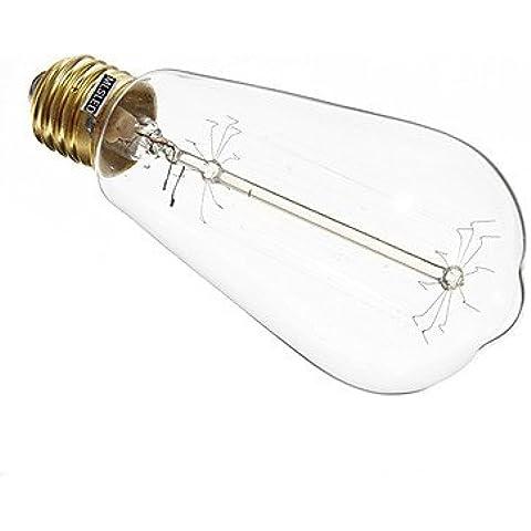 YangR* LED E27 60W 360-420LM 2700-3000K LED bianco caldo lampadina di mais coperchio trasparente(AC220-240V)