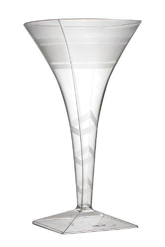 Wavetrends Fineline Einstellungen klar Quadrat 8Oz Martini Glas 72Teile Elegante Martini-gläser
