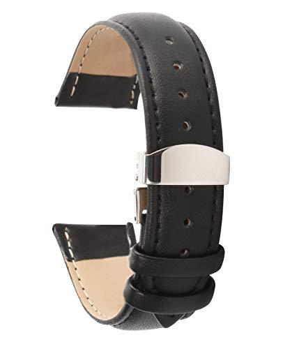 Lederarmband Uhr lederarmband Herren 24mm Lederarmbänder für Faltschließe Männer