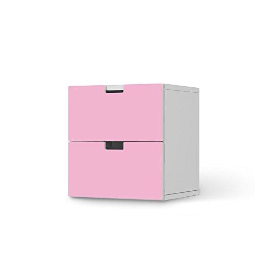 Dekor-Folie für IKEA Stuva Kommode Kommode - 2 Schubladen I Möbel-Folie Klebefolie Sticker Aufkleber Möbel umgestalten I kreativ einrichten Schlafzimmer-Möbel Gestaltungsideen I Farbe Pink 3