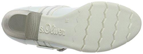 s.Oliver 24404, Scarpe con Plateau Donna Bianco (WHITE COMB. 110)