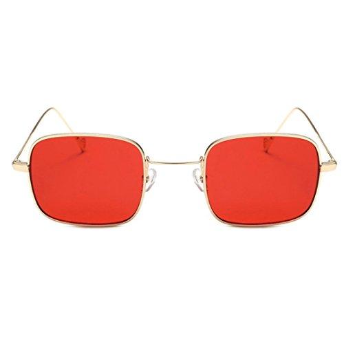 Dragon868 Frauen Fashion Quadrate Shades Sonnenbrille Integrierte UV Candy Farbige Gläser (C)