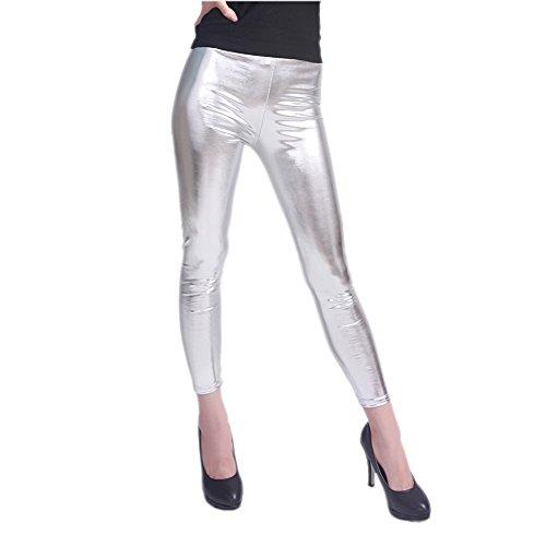 diamondkit-liquid-wet-look-shiny-metallic-stretch-leggings-m-silver