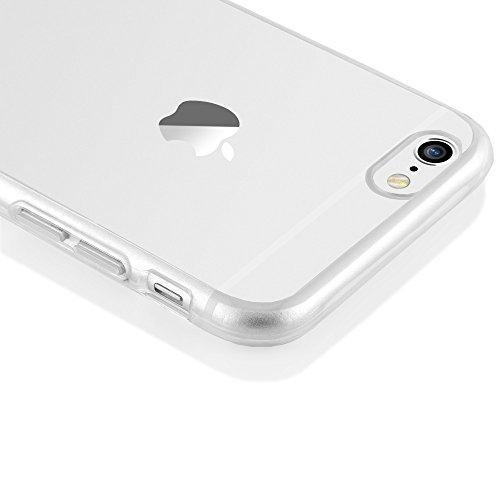 iPhone 6 6S Hülle Handyhülle von NICA, Durchsichtiges Slim Silikon Case mit Transparenter Rückseite & Bumper, Dünne Schutzhülle Handy-Tasche Back-Cover für Apple iPhone 6S 6 - Transparent Transparent
