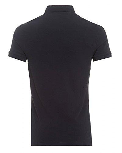 Hugo Boss Orange Herren Slim Fit Pavlik-Polo-Shirt Schwarz Blau (Dark Blue 404)