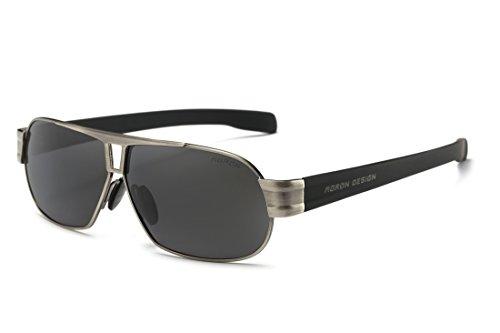 Polarisierte Sonnenbrille Herren Freizeit-UV400Brille Klassisches Design Brillen Oculos Stecker Cool Eyewear Zubehör 8516 - grau