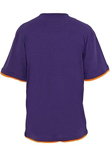 Urban Classics TB029A Herren T-shirt Bekleidung Contrast , Multicolore (Fushia/Orange)